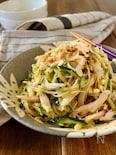 サラダチキンと豆もやしときゅうりの中華風サラダ