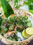 【すし酢の黄金比】鯵1枚あれば!!アジときゅうりのちらし寿司