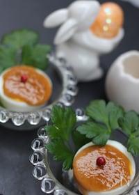 『茹で卵のマヨ甘ソース焼き』