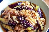【とろとろ茄子と豚バラの甘酢炒め】ごま油♬︎生姜香る♬︎