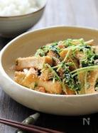 厚揚げと豆苗の明太チーズ炒め
