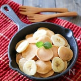 簡単ミニバナナ米粉パンケーキ【油・砂糖・卵・乳・小麦不使用】