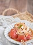 新玉ねぎとトマトの和風サラダ【作り置き】
