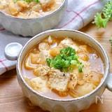 『豆腐とお揚げのキムチ味噌スープ』
