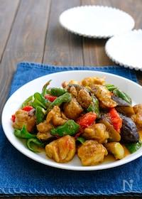 『鶏肉と夏野菜のスパイシーカレー炒め』