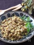 ご飯にかけても👍コロコロれんこんとひき肉のカレーとろみ炒め