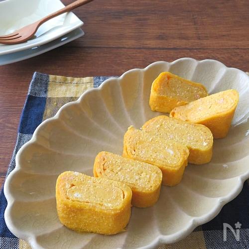 お弁当に人気◎明太子バターしょうゆの卵焼き