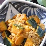 ほっこり和のおかず♡かぼちゃとひき肉の旨味噌炒め煮