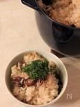 ストウブで ホタルイカと新生姜の炊き込みごはん