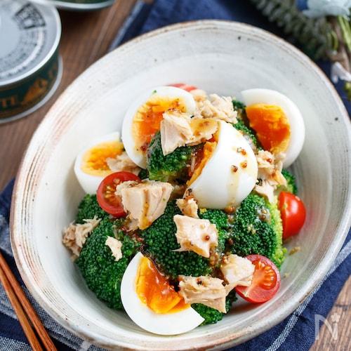 卵とブロッコリーのデリ風サラダ【#簡単#時短#節約】