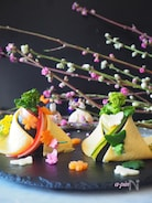 お雛さまのちらし寿司【市販のすしの素使用*見た目より簡単】