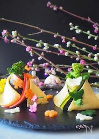 『お雛さまのちらし寿司【市販のすしの素使用*見た目より簡単】』