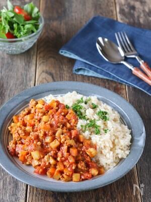 食物繊維たっぷり!玄米で楽しむ根菜カレー