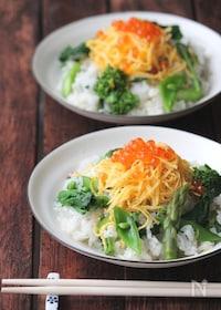 『春野菜の出汁散らし寿司。』
