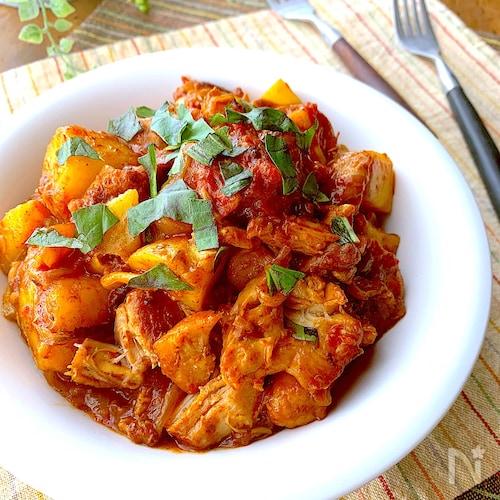 うま味濃厚ほろほろチキンほくほくポテトのトマトカチャトーラ