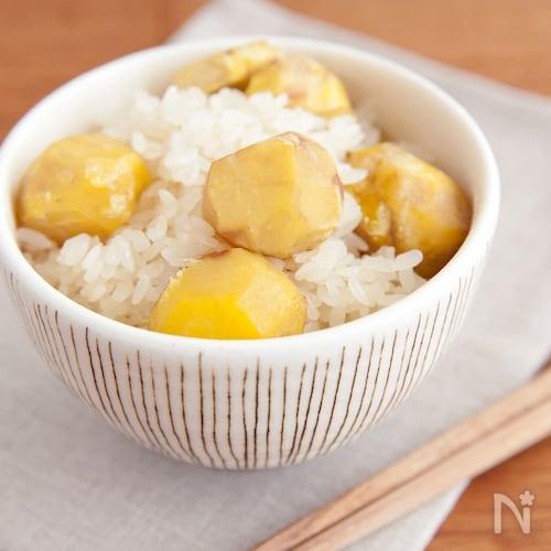 もち米で美味しく作る!栗おこわ