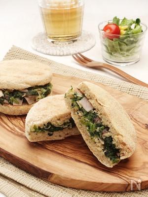 栄養たっぷり!ほうれん草のサンドイッチ!