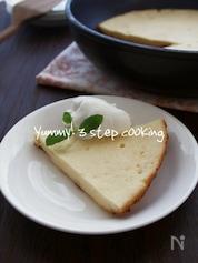 しっとり濃厚!フライパン焼きベイクドチーズケーキ