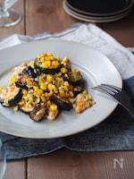 夏野菜と鶏むね肉のスパイシーマリネ