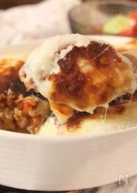 『山芋ソースで作る ミートドリア』