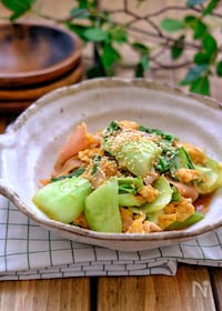 『*青梗菜とハムの卵炒め*』