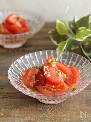 【らくレピ】トマトの甘酢生姜和え