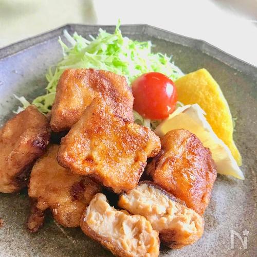 冷凍豆腐(トーフミート)のジューシーから揚げ♪
