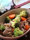 フライパンでコク旨♪牛肉とブロッコリーのオイスターソース炒め