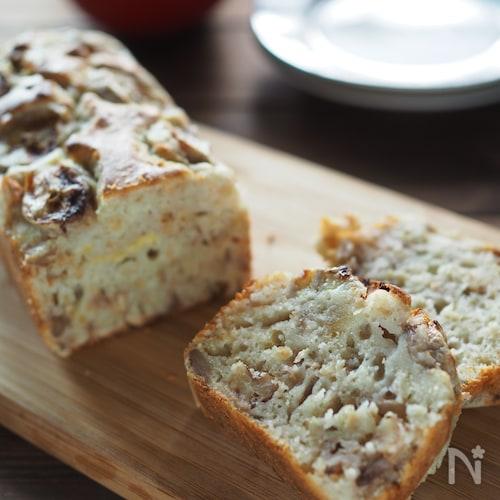 【適糖生活】バター無し♡定番バナナとくるみのパウンドケーキ