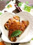 茄子の豚肉巻き・甘酢ソース。
