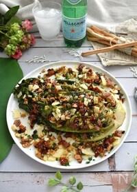 『食べるドレッシングで!ロメインレタスのグリルサラダ』