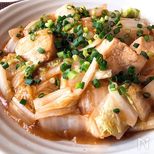 ボリュームおかず★白菜と豆腐のとろみあん