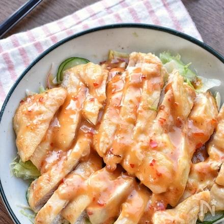 【胸様レシピ】うま辛たまらん♡胸肉deスイチリオイマヨ♡