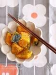 電子レンジ&シンプル味付けで簡単*かぼちゃの塩ごま煮♡