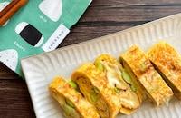 お弁当やおつまみに!枝豆とチーズの卵焼き*