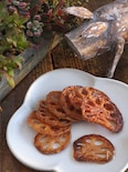 簡単に♪お野菜おやつ。蓮根キャラメリゼ