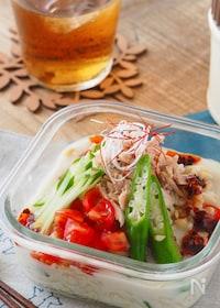 『ツナのピリ辛豆乳担々麺【5分・時短・簡単・お弁当】』