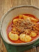 調味料一律大さじ1!*豆腐とえのきとゆで卵の旨辛蒸し煮*