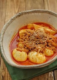 『調味料一律大さじ1!*豆腐とえのきとゆで卵の旨辛蒸し煮*』