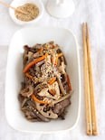 【お弁当のおかずにも】牛肉とごろごろ根菜の具沢山きんぴら