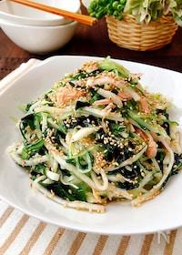 『おかずサラダ*水菜と大根とツナのナムル』