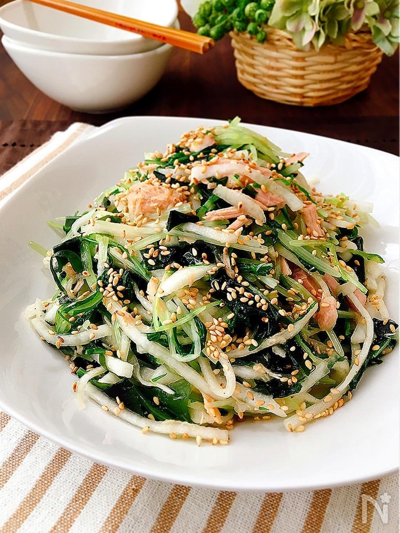 4. 水菜と大根とツナのナムル