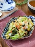 即席で出来る♪白菜と鮭フレークのおつまみサラダ