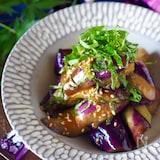 【レンジで】タレでご飯食べられる大葉たっぷり*なすの油味噌