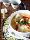 体が温まる*豆腐たっぷり酸辣湯スープ*ラーメンにも