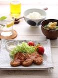 豚ヒレ肉の生姜焼き献立