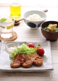 『豚ヒレ肉の生姜焼き献立』