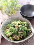 やみつき!ご飯にも合う♡ブロッコリーの海苔の佃煮ごまごま和え