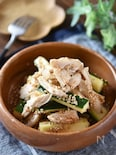 ズッキーニと蒸し鶏のピリ辛サラダ【作り置き】