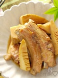 スペアリブと竹の子の煮物♪甘辛でご飯がすすむ